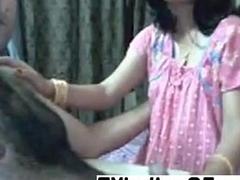 Amateur Indian reinforcer having fun