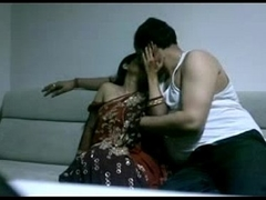 adult indian couple in lounge after combo unite seducing each other lustful focussing