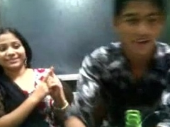 Horny Bagladeshi Cookie Kiss with her boy frined