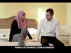 FamilyStrokes - Pakistani Wife Rides Cock In Hijab