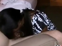 Shy Indian doll sucks dick with unrestrained passion