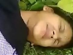 teacher girl open-air